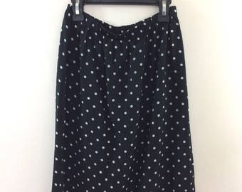 Vintage Polka Dot High Waisted Skirt