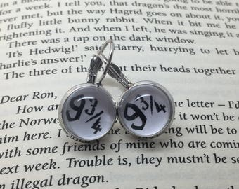 Witchcraft and Wizardry inspired earrings. Silver plated.