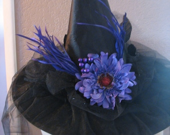 Purple Daisy witch hat
