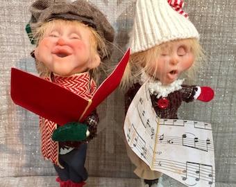 Christmas Caroler Kids- DoReMe N Friends - NonnasSantas- Christmas Music - Art Dolls - OOAK Dolls - Handmade Dolls - Handmade Christmas