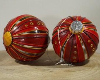 christmas ball red, gold