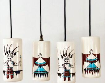 Native American Zuni-inspired Pendant lights