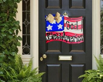 Independence Day Door Hanger- Memorial Day Door Hanger, 4th of July Door Hanger, God Bless America, Summer Door Decor, Memorial Day Decor