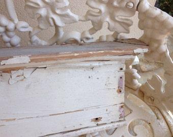 Shabby Chic - Chippy - Wood - Header - Ivory Chippy Paint - Paris Apt - French