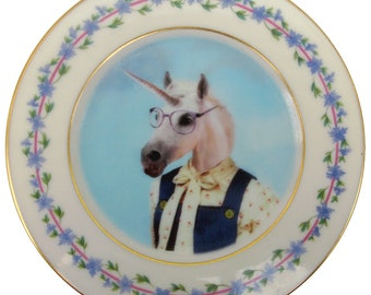 Missy Van Horne the Unicorn Plate 6.25""