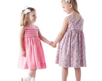 Smocked Dress Pattern / Mary De Pattern / Sundress / Jumper / Wrapped Back / New Instructions / Smocked Inset / More Sizes / CC / #67