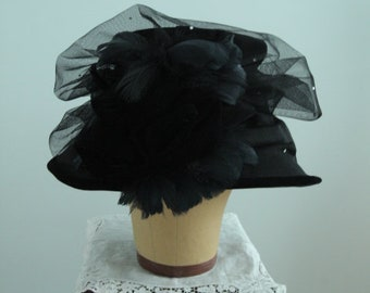 Vintage 1980's Black Hatheads Hat