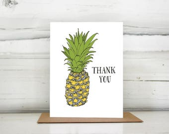 Thank You Pineapple greeting card