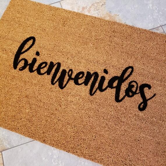 Spanish Doormat / bienvenidos Doormat / Spanish Welcome Mat / Spanish Gifts / Spanish Decor / Custom Doormats / Housewarming Gift Ideas