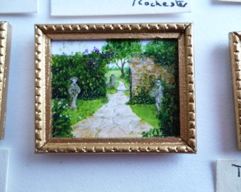One 24th scale Miniature print of my original painting of Barnsley house Gardens .Gloucestershire,England