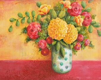 Bountiful Bouquet 8x10 or 11x14 Art Print