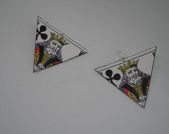Earring card King of clubs