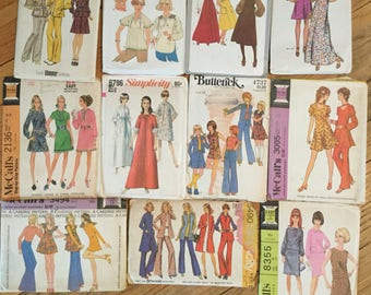 Lot 5-Vintage Sewing Patterns-11 patterns