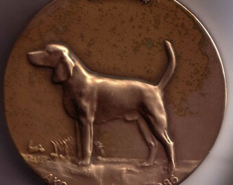 Large Bronze 65 mm Beagle Dog Medal from Westminster Kennel Foundation Dogs Exonumia