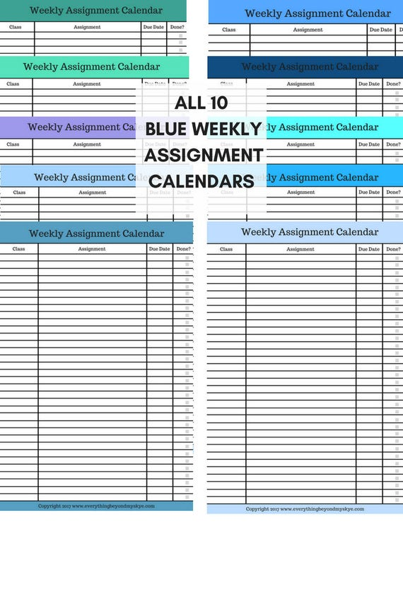 Magic image with assignment planner printable