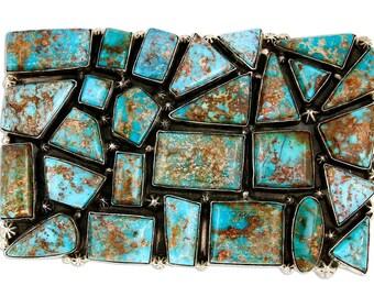 VTG CD & Phillip Zachary Museum Quality Tonopah Turquoise Belt Buckle
