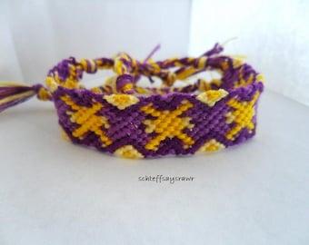 Purple sunburst friendship bracelet