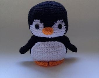 Crochet amigurumi stuffed animal penguin toy