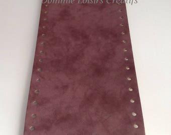 Bottom of bag made of eco leather, amarena batik - oval 36 x 12 cm