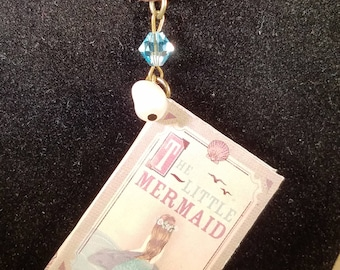 The Little Mermaid Book Necklace