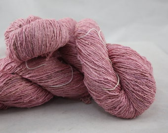 Handspun Recycled Mulberry Silk - Strawberry Sorbet