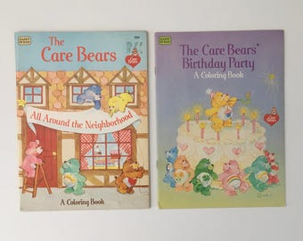 1980's Care Bears Coloring Books & Puzzles