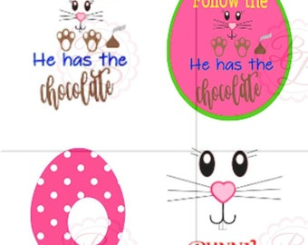 Follow the Bunny SVG, Easter SVG, Chocolate SVG