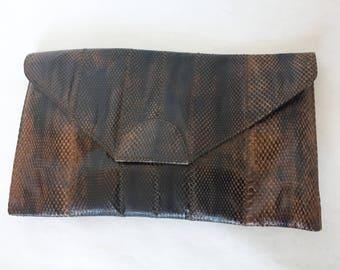 1970s Snakeskin Clutch Purse by Esteve