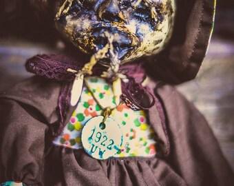 creepy doll Tsantsa Mummy OOak doll
