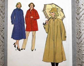 Simplicity 8867, Misses' Coat or Jacket Sewing Pattern, Women's Patterns, Vintage Simplicity Pattern, Women's Size 22-1/2 and 24-1/2, Uncut