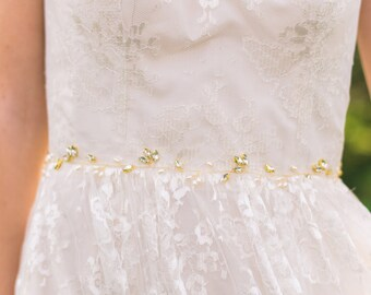 Pearl Bridal Belt Pearl Bridal Sash Crystal Belt Beaded Belt Pearl Sash Beaded Bridal Sash Pearl Belt #154