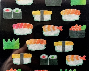 Sushi Stickers - Japanese Stickers -  Masking Tape Stickers -  S178