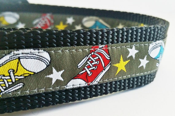 Out For A Run - Dog Collar / Adjustable / Handmade / Sneakers / Large Dog / Converse / Gift Idea / Pet Lover