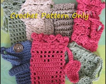 Soap Saver Collection with BONUS: Mary Jane Wash Mitt - Crochet Pattern