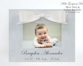 Baby Boy Gift Personalized Picture Frame New Baby Gift Newborn Blue Nursery Decor Custom Photo Frame Baby Keepsake Birthday Gift Ideas