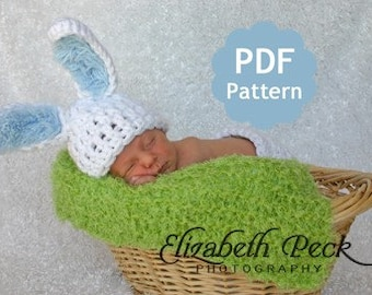 Baby Bunny Rabbit Ears Hat -- Pattern for Crochet INSTANT DOWNLOAD