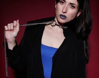 Bdsm Collar Bondage w. Leash - Choke Chain Slave Collar - Submissive Jewelry - Cyberpunk - Gothic - Erotic - Bdsm Master - Berghain - Dog