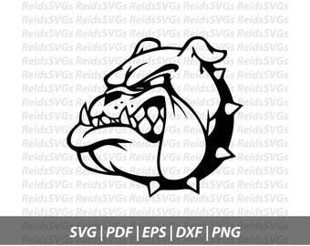 Bulldog SVG for cutting machines, SVG Files, Clipart, Circut, Cutting Files, DXF, Clipart, Instant Download