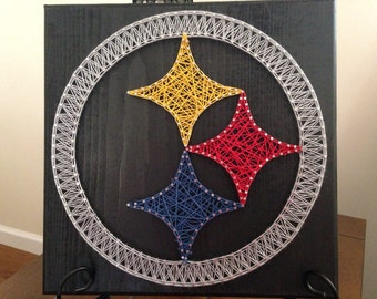String art Pittsburgh Steelers board