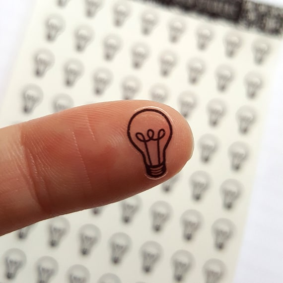 64 clear light bulb stickers clear planner stickers