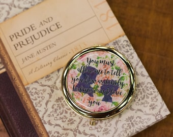 Pride and Prejudice Inspired Compact Mirror