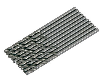 10PC 2mm HSS Drill Bit Set, for Hobby Craft Model and Jewellery Makers, 2mm For Metal, Plastic And Wood CT2973