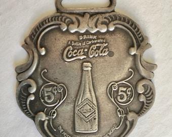 very vintage coca cola fob in sterling