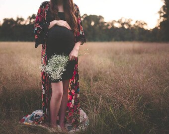 Maternity Robe, Maxi Length Robe, Hospital Gown, Full Length