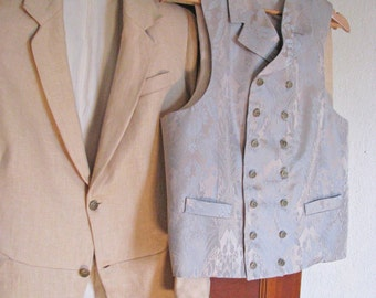 Edwardian Frock Coat with Vest and Pants
