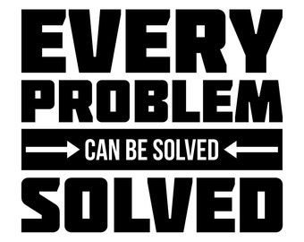 Every Problem Wall Decal