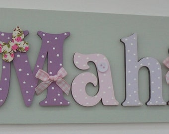 ANY NAME **Max 7 letters**Personalised Childrens Door Name Sign Plaque Butterfly (SAGE)