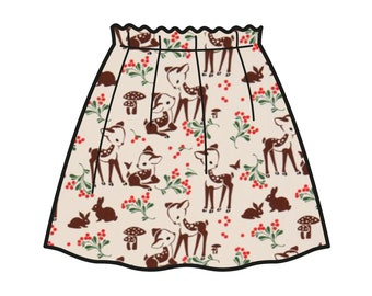 Fown Skirt _ The Curious Fawn Collection _ Model of skirt Carlotta