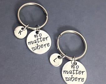 2 Best Friend Keychains, always keychain, always charm, couples keychain, infinity,always, friendship jewelry, keychain gift for friend