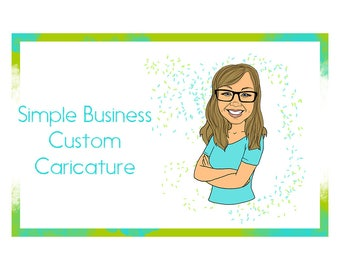 Custom Simple Business Caricatures-Caricature-Business-Profile Photo-Custom Caricature-Commercial Caricature-Business Caricature-Fun-Unique